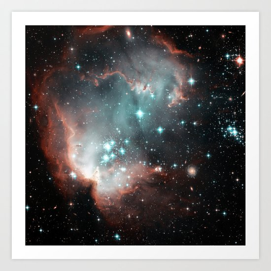 Nebula and stars Art Print