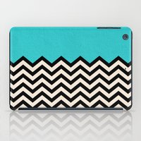 chevron iPad Cases featuring Follow the Sky by Bianca Green