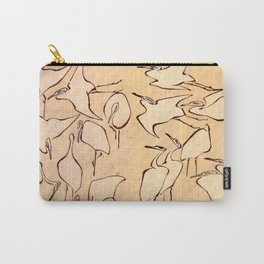 """Katsushika Hokusai """"Cranes from Quick Lessons in Simplified Drawing"""" (1823)(original) Carry-All Pouch"""