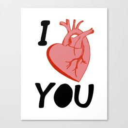 I Love You (white) Canvas Print