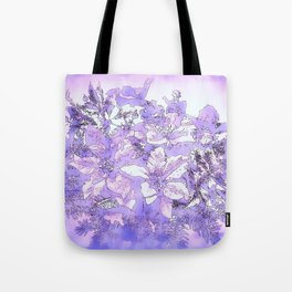 Christmas Bouquet in a purple haze Tote Bag