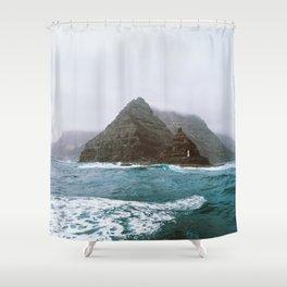 Island between Lanzarote and Isla Graciosa, Spain. Shower Curtain