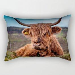 Scottish Highland longhorns Rancher Rectangular Pillow