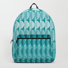 Leaves in the moonlight - a pattern in teal Backpack