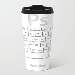 Photoshop Keyboard Shortcuts Opt+Shift Metal Travel Mug
