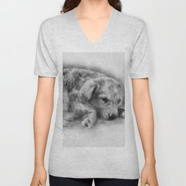 Sweet Cappuccino Puppy Unisex V-Neck