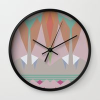 the mountains are calling Wall Clocks featuring The Mountains Are Calling by NOxLA