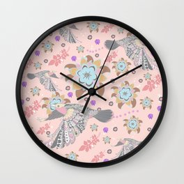 Happy flying Wall Clock