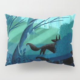 Shadow Wolves Stalk The Silver Wood Pillow Sham