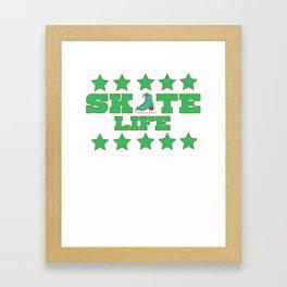 Lovely Gift Ice Skating Tshirt Design Skate life Framed Art Print