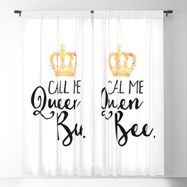 Queen Bee Funny Quote Blackout Curtain