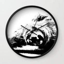 A Smiling Sloth Wall Clock