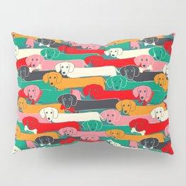 dachshund pattern- happy dogs Pillow Sham