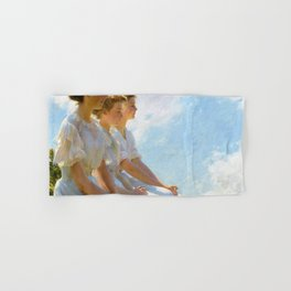 12,000pixel-500dpi - Charles Courtney Curran - On The Heights - Digital Remastered Edition Hand & Bath Towel