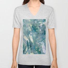 Sparkling Light Blue Crystal Shards Unisex V-Neck