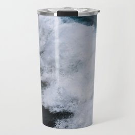 Powerful breaking wave in the Atlantic Ocean - Landscape Photography Travel Mug