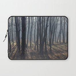 Fog Autumn forest Laptop Sleeve