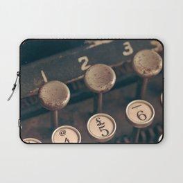 Vintage Typewriter - Macro Photography #Society6 Laptop Sleeve