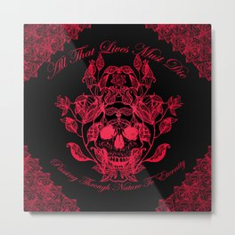 All That Lives V3 Metal Print