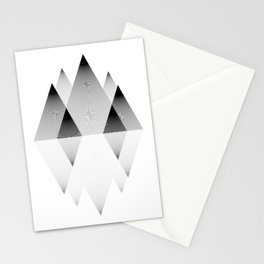 Mountains Lines Stationery Cards