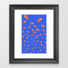 Pretty Orange Birds Framed Art Print