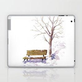 Snowy sunrise Laptop & iPad Skin