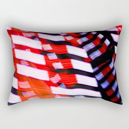 Abstract Red White and Blue Lights Rectangular Pillow