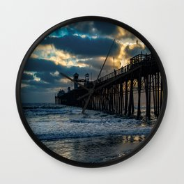 South Side Oceanside Pier ~10-2015 Wall Clock