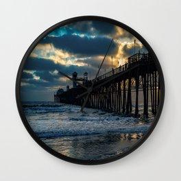 South Side Oceanside Pier ~10-2015 Wall Clock