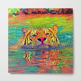 AnimalColor_Tiger_001_by_JAMColors Metal Print