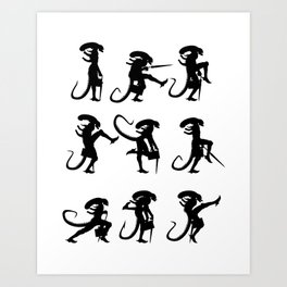 Ministry of Alien Silly Walks Art Print