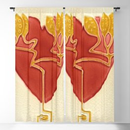 Art Nouveau Heart Blackout Curtain