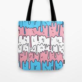 Pastel Kawaii Melting Trans Pride LGBTQ Design Tote Bag