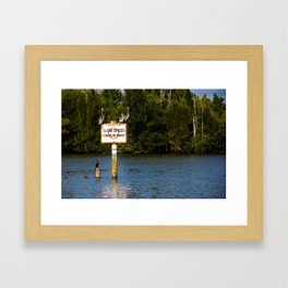 Manatee Zone Framed Art Print