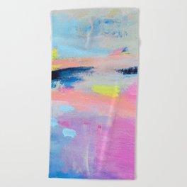 Dreamy Abstract pink Art  Beach Towel