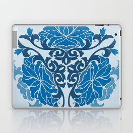 Blue Chinese Floral Medallion Laptop & iPad Skin