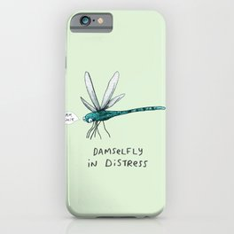 Damselfly in Distress iPhone Case