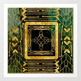 Folk Art Deco Art Print