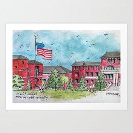 Lee & Union at Mississippi State University Art Print