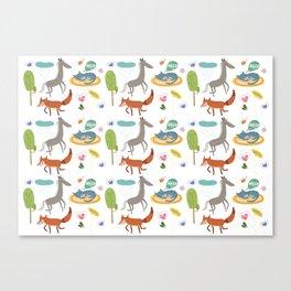 Happy animals Canvas Print
