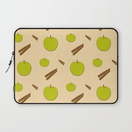 Sweet pattern with apple and cinnamon Laptop Sleeve