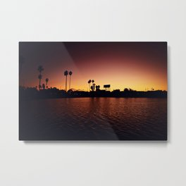 Mission Bay Belmont Park Sunset Metal Print