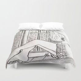 Just want to disappear Duvet Cover