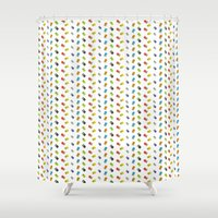 gameboy Shower Curtains featuring GAMEBOY COLOR  by soycocon