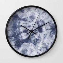 Tie Dye 3 Navy Wall Clock