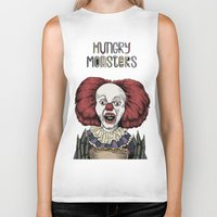 pennywise Biker Tanks featuring Pennywise is hungry by Andres Eladio