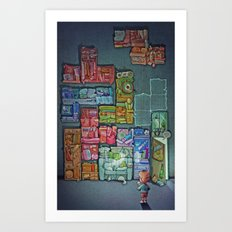 Tetris Tribute Art Print