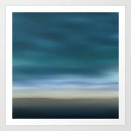 Dreamscape #7 blue-green Art Print