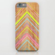 Wooden Chevron Pink iPhone 6 Slim Case