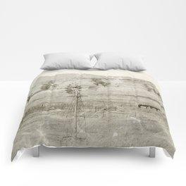 """Vintage Valley"" by Murray Bolesta! Comforters"
